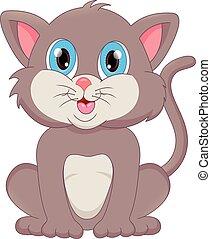 lindo, gato, caricatura