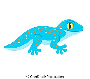 lindo, gecko, caricatura, tokay