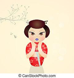 lindo,  kokeshi, muñeca