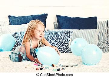 6b575d7a7d Lindo, poco, box., regalo, (2, años, niño, old), hogar, niña.