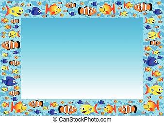 lindo, pez, plano de fondo