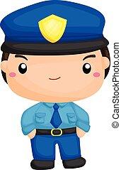 lindo, poco, policía
