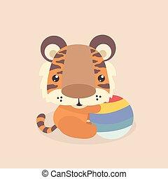 lindo, poco, tiger.