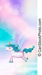 lindo, poco, unicornio