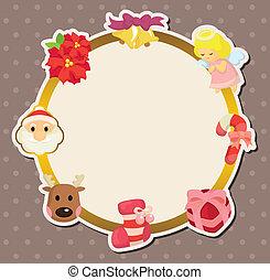 lindo, tarjeta de navidad