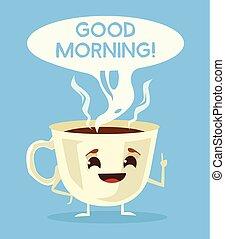 lindo, taza de café