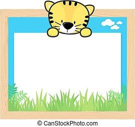 lindo, tigre, marco