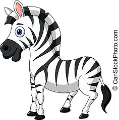 lindo, zebra, caricatura