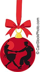 Lindy hop Christmas decoration