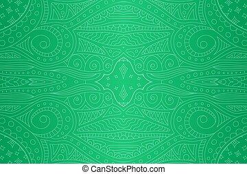 lineáris, motívum, elvont, seamless, zöld, csillaggal díszít