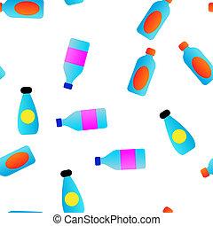 lineáris, motívum, seamless, műanyag, víz palack