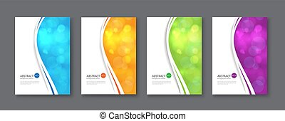 Line abstract set background. Vector illustration.