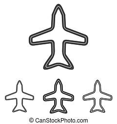 Line airport logo design set