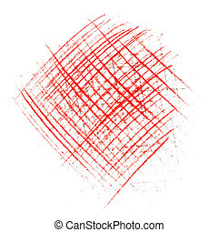 line and strick red pencil abstract painting texture