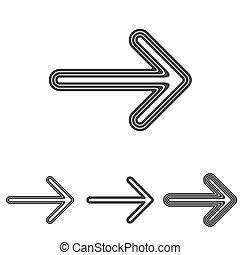 Line arrow logo design set