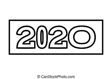 Line art 2020 various width text characters