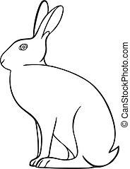 Line art animal hare icon