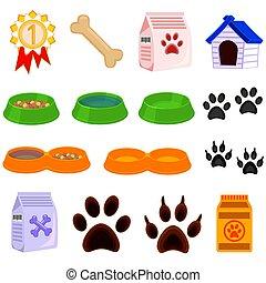 Line art black and white pet care 15 icon set