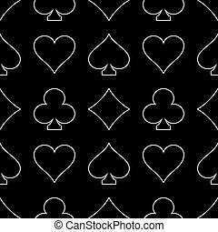 Line art casino seamless pattern.