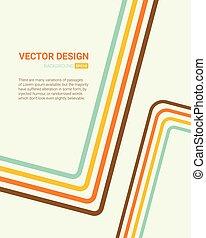 Line art color. Cover, brochure template design