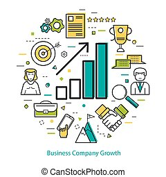 Line Art Concept - Business Company Growth