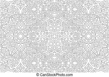 Line art for coloring book with eastern pattern - Beautiful ...