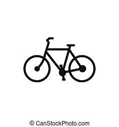 Line art of bicycle logo design template vector