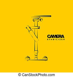 Line art of Gimbal stabilizer vector illustration. good template for studio or photography design