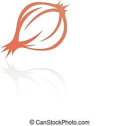 line art onion