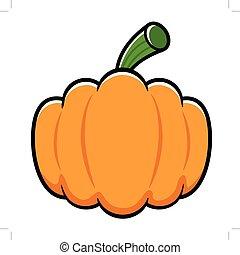 Line art Pumpkin illustration. Halloween Day Isolated Pumpkin Vector Illustration.