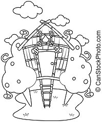 Line Art Tree House