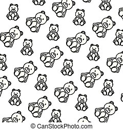 line bear teddy cute toy background
