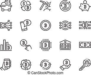 Line Bitcoin Icons