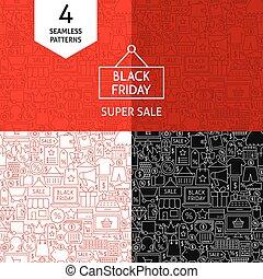 Line Black Friday Patterns