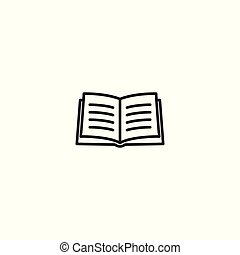 line book thin icon on white background