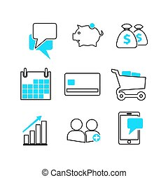 line business icon set