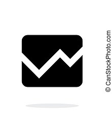 Line chart icon on white background.