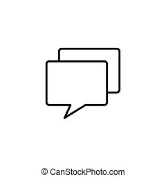chat, speech bubble icon on white background