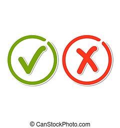 Line check mark stickers