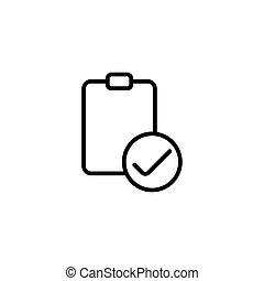 line checklist on white background