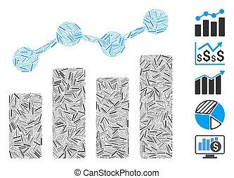 Line Collage Analytics Icon