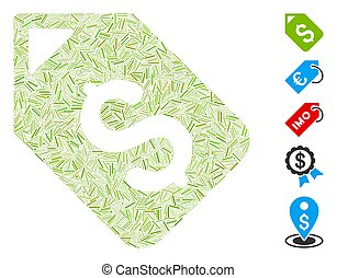 Line Collage Bank Account Tag - Hatch Mosaic based on bank ...