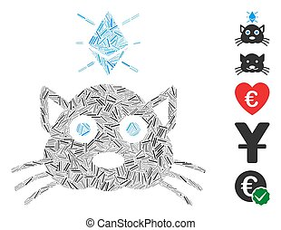 Line Collage Ethereum Crypto Kitty