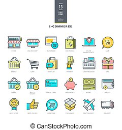 Line color icons for e-commerce