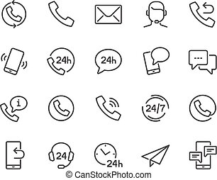 Line Contact Icons