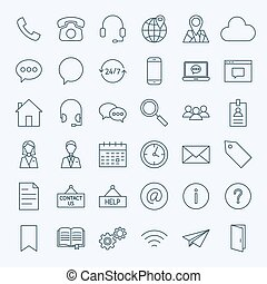 Line Contact Us Icons