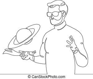 line continuous astrophysicist astronomer scientist