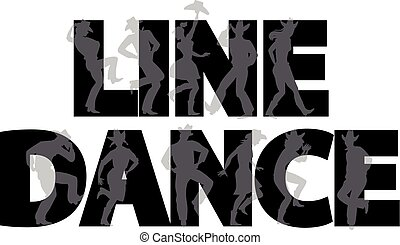 Line dance banner - Country-western line dance party banner...