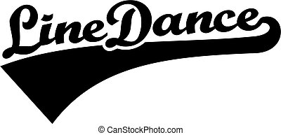 Line dance word retro