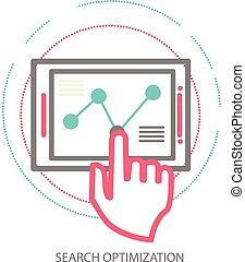 line design illustration concept of website analytics